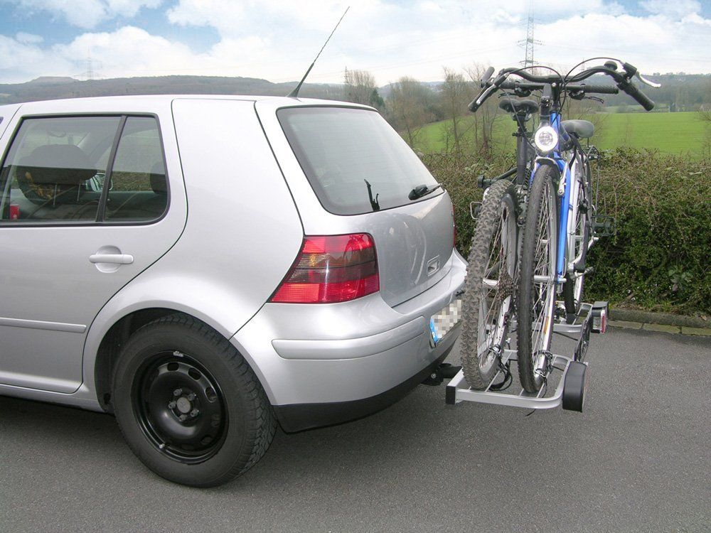 Seitenansicht von einem Heck-Fahrradträger EUFAB 11411 BIKE TWO