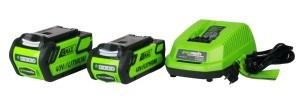 Greenworks Tools 40V Akku-Rasenmäher, 40 cm Schnittbreite ohne Akku und Lader, 2500007