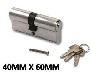 Hochsicherheitsschloss - Zylinderschloss mit Europrofil - Für Türen aus uPVC, Aluminium, Verbundmaterial - Schutz gegen Aufbohren - Alle Größen