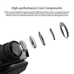 JmGO G1 HD 3D DLP-Projektor 1280*800P leichter Beamer mit Bluetooth Lautspreacher Funktion (G1)