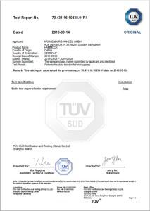 Die Kronenburg Hängematte Mehrpersonen ist TÜV geprüft.