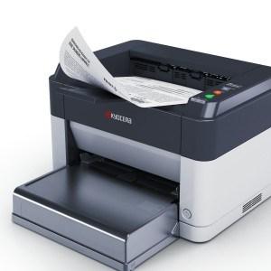 Kyocera Ecosys FS-1061DN SW-Laserdrucker (Drucken, 1.200 dpi, USB 2.0, Duplex) grau/weiß