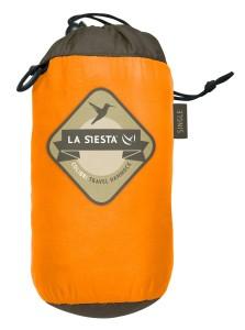 Die La Siesta Single Reisehängematte Colibri hat eine praktische Transporttasche.