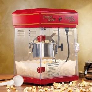 Die Rosenstein & Söhne Profi-Popcorn-Maschine mit qualitativ hochwertigem Edelstahltopf.