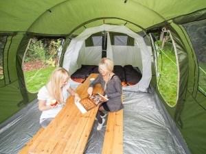Skandika Gotland 4 Personen Familienzelt mit eingenähtem Boden und 5.000 mm Wassersäule