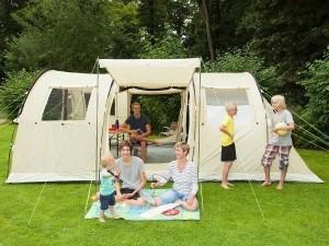 Skandika Gotland 6 Personen Familienzelt mit eingenähtem Boden und 5.000 mm Wassersäule