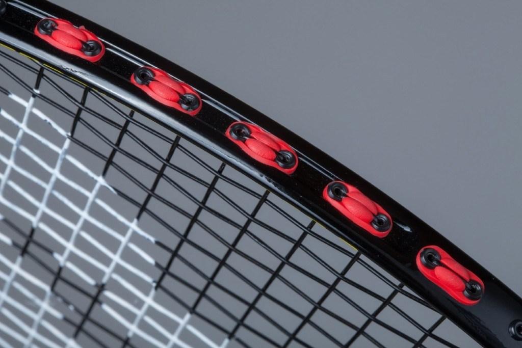Bespannung eines Badmintonschlägers