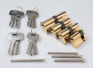 Westfalia Schließzylinder Satz 4 tlg. mit 12 Sicherheits - Schlüsseln