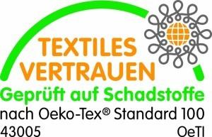 Das f.a.n. frankenstolz Medisan sleep and care Seitenschläferkissen hat Öko-Tex Standard.