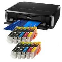 Bundle - Canon Pixma iP7250 Tintenstrahldrucker mit 10x Refill Tintenpatronen