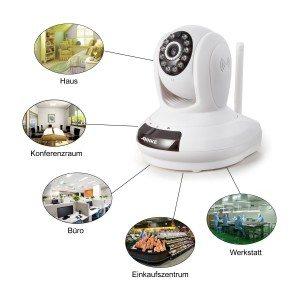 Annke IP Kamera Überwachungskamera Wlan Netzwerk Kamera SP1 Wireless 720P HD mit Zweiweggespräch Nachtsicht bis zu 30ft Fernzugriff mit QR-Code scannen