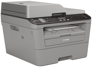 Brother MFC-L2700DN Monolaser-Multifunktionsdrucker (Drucken, scannen, kopieren, faxen, 2.400x600 dpi, USB 2.0 Hi-Speed, Duplex) grau