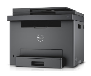 Dell E525w LED-Farblaser-Multifunktionsdrucker (600x600dpi, USB, LAN, WLAN inkl. AirPrint , Fax, Drucken, Scannen, Kopieren)