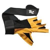 Die Trainingshandschuhe Deluxe Leder Trainings- und Fitness schwarz / braun - Handschuhe