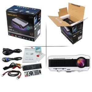 EUG X88+(A) HD Projektor LCD LED Beamer Video Projektor 1280 x800 3.600 Lumen Kontrast 3500:1 unterstützt 1080p Android WiFi für Heimkino (Nicht für Geschäftspräsentation oder Schule)