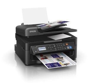 Epson WorkForce WF-2630WF 4-in-1 Multifunktionsdrucker (Drucker, scannen, kopieren, faxen, WiFi, Dokumenteneinzug) schwarz