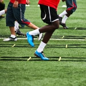 Fussballtraining-Koordinationsleiter