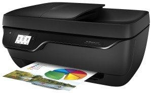 HP Officejet 3830 All-in-One Tintenstrahl Multifunktionsdrucker (A4, Drucker, Kopierer, Scanner, Fax, WLAN, USB, 4800x1200) F5R95B schwarz