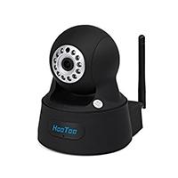 HooToo® IP Kamera Überwachungskamera Megapixel HD 1280 x 720p H.264 Wireless / Wired Pan / Tilt mit IR-Cut Filter, Nachtsicht WPS, schwarz
