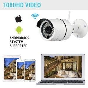 IP Kamera, 1080P Full HD Tag Überwachungskamera und Tag-/Nacht-Webcam mit Elektret-Kondensatormikrofon (Weiß)