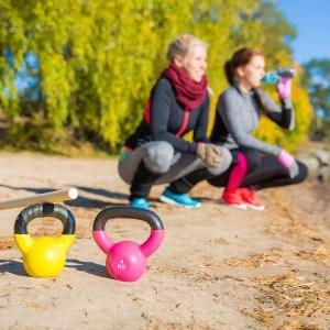 Für das Training mit der Kettlebell brauchen Sie kein zusätzliches Zubehör.