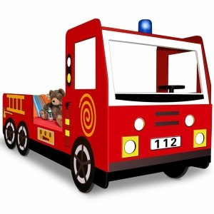 Kinderbett-Deuba-Feuerwehrauto