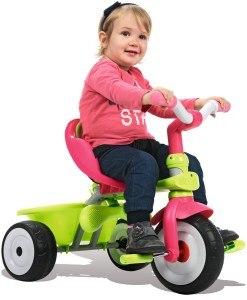 Es gibt verschiedene Arten von Dreirädern.
