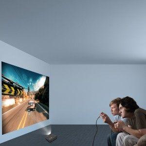 TEC.BEAN Kabelloser Tragbarer WLAN Multimedia Beamer LED LCD Heimkino Projektor mit HDMI USB VGA SD AV Anschluss