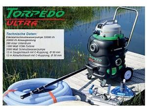 TORPEDO ULTRA Teichschlammsauger zur Teichreinigung