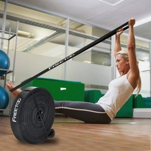 Uebung-Frau-schwarzes-Freeto-Fitnessband