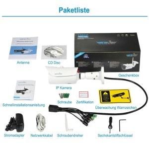 Wansview Außenbereich IP Kamera, 1080P WiFi Drahtlos IP Sicherheit Kamera, IP66 Wasserdicht,5 hoch Leistung IR LEDs eingebaut 8GB Mikro-SD Karte W1 (Weiß)
