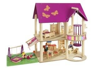 Es gibt verschiedenen Arten von Puppenhäusern.
