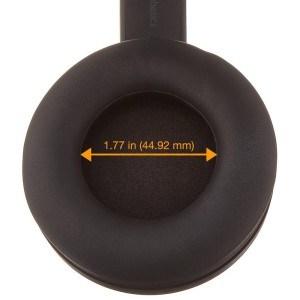 Der AmazonBasics Premium Over-Ear Headphone hat eine tolle Abschirmung.