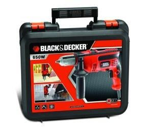 Black + Decker Schlagbohrmaschine 650 W mit Koffer, KR654CRESK