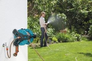 Die Gardena Classic Wand-Schlauchtrommel ist zur optimalen Aufbewahrung des Gartenschlauches.