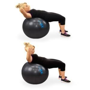 Der GoFLX 65cm Gymnastikball ist vielfältig nutzbar.