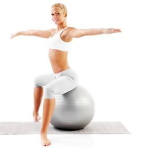 Es gibt eine vielzahl von tollen Übungen mit dem Gymnastikball.