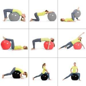 Es gibt ganz tolle Übungen mit dem Gymnastikball.