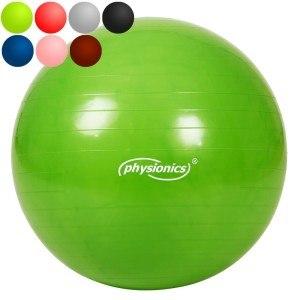 Den Gymnastikball von Physionics gibt es in verschiedenen Farben.