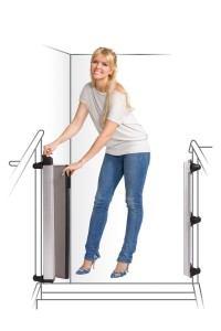 Das Lascal Tür- und Treppenschutzgitter Rollo ist ein optimaler Schutz an Treppen und Türen.
