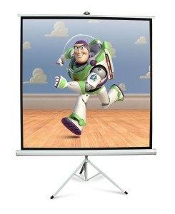 "Lavolta 100"" Tragbar Stativ Beamer Leinwand Projektionswand – HD Mattweiße Folie – 180cm x 180cm"