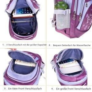 Es ist wichtig den Schulrucksack richtig zu bepacken.