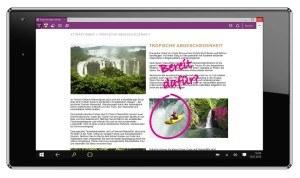 Odys Winpad X9 22,6 cm (8,9 Zoll) Tablet-PC (Intel Atom Quad Core Z3735, 2GB DDR III RAM, 32GB Flash HDD, Win 10 Home, Bonuspack: 3 Monate Zattoo Premium gratis) schwarz