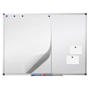 Office Marshal® Profi - Whiteboard mit schutzlackierter Oberfläche | magnethaftend | 6 Größen | 90x120cm
