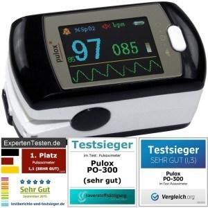 Der Pulsoximeter PULOX PO-300 ist unser Vergleich-Testsieger.