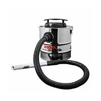 Motorbetriebener Aschesauger in rostfreier Stahloptik für einen vollautomatischen Betrieb ohne die zusätzliche Verwendung eines Staubsaugers.
