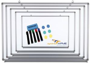 Whiteboard Magnettafel mit Alurahmen und durchgehender Stiftablage, in 6 Größen, schutzlackiert, magnethaftend, CLIP Funktion, mit Montagematerial und gratis Zubehör (Stifte,Schwämme), Größe:30x45 cm