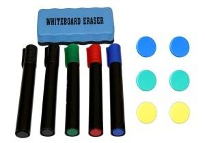 Whiteboard Magnettafel mit Alurahmen und durchgehender Stiftablage, in 6 Größen, schutzlackiert, magnethaftend, CLIP Funktion, mit Montagematerial und gratis Zubehör
