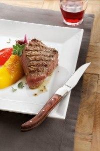 Amefa 252000WP00K35 Laguiole Steakmesser Set Royal Steak, geschmiedet Pakkaholz-Griffe in Holzschatulle, 6-teilig