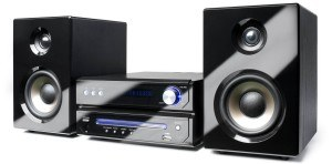 Dual MS 110 CD Stereoanlage mit FLT Display (CD-Player (MP3), RDS-PLL-Radio, 75 Ohm, USB-Anschluss, AUX-In, Kopfhöreranschluss, Fernbedienung) schwarz